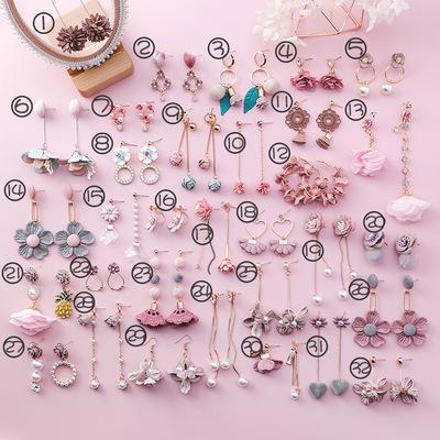 Bijoux de mode 2019 perle boucles d'oreilles fleur amour design créatif mignon en gros personnalisé coréen boucles d'oreilles gland boucles d'oreilles