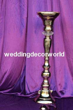 New crystal candle holder table centerpieces for wedding decor acrylic gold candelabra with large flower bowl for event partu decoration517