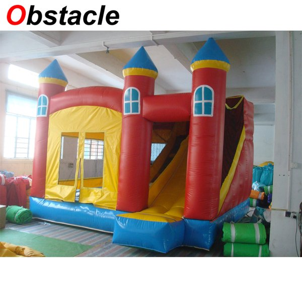 Inflatable bouncer jumping house bouncy castle slide combo with inflatable obstacle for commercial children party event rental business