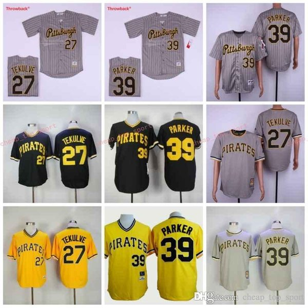 the best attitude 77233 9cbfe 2019 Hot Pirates 27# Tekulve/39# Parker Black Grey Yellow Baseball  Throwback Jerseys Shirt Stitched Top Quality From Cheap_top_sport, $26.39 |  ...