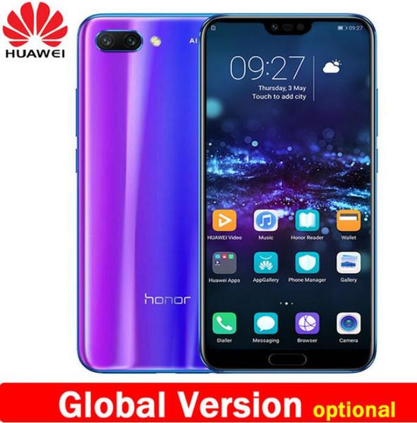 Nova chegada huawei honor 10 5.84 polegada 2280x1080p honor10 tela do telefone móvel Octa Núcleo face ID NFC android 8.1 3400 mAh bateria