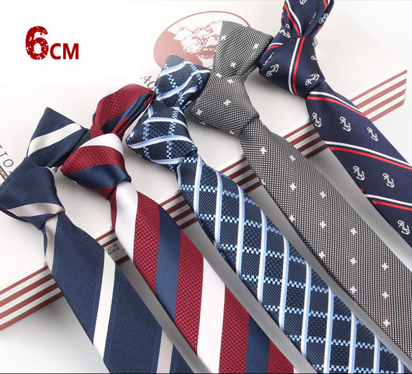 Men's business dress tie width 6cm work work professional groom married hands tie custom wholesale