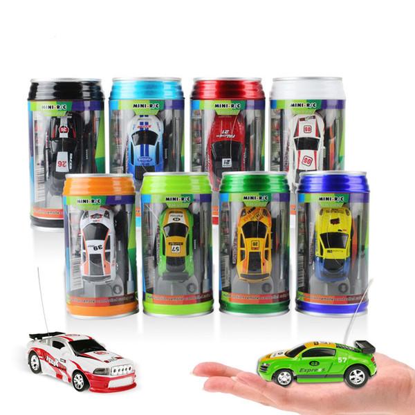 Mini-Racer Remote Control Car Coke can zip-top can Mini RC Radio Remote Control Micro Racing car toys 1:64 8Styles GGA1459