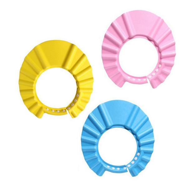 Kids Wash Hair Cap Waterproof Earmuffs Artifact Baby Shower Hat Adjust Enlarge Children Shower Cap Child Shampoo Hat