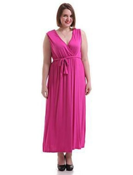 2009 European and American large size dress with V-neck curve dress and waistband dress
