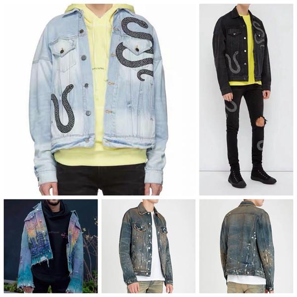 19ss amiri jeans giacche taglia usa qualità toq qualità giacche da uomo designer biker denim per uomo moda hip hop giacca da uomo