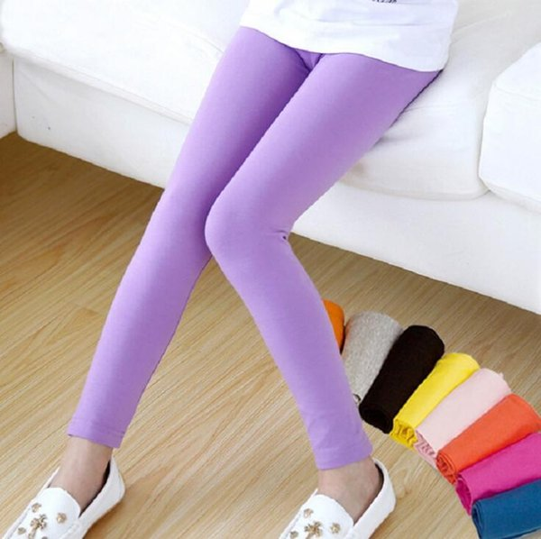 Girls leggings girl pants Candy color Toddler classic Leggings children tights baby kids leggings 2-13 Y