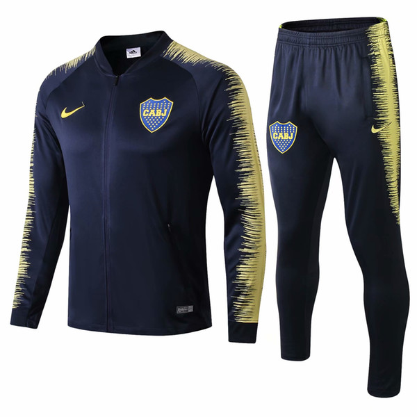best selling Wholesale newest Boca Juniors jacket Benedetto hoodie 2018 2019 CABJ tracksuits soccer jersey Naindez Pavon training suit Mas football shirt