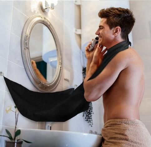 Men Bathroom Shave Apron Beard Care Trimmer Men's Facial Hair Bib Catcher Polyster Shaving Apron Cape Cloth Sink Tools