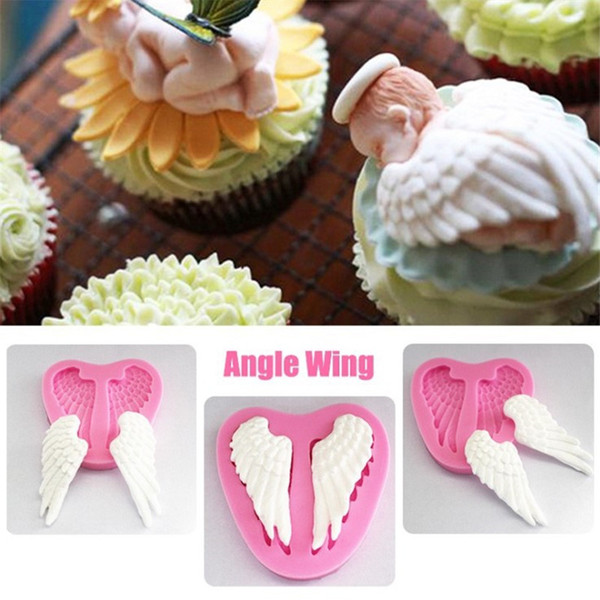 Angel wings Silicone Mold Fondant Cake Decorating Tools Chocolate Gumpaste Molds, Sugarcraft, Confectionery Kitchen Accessories