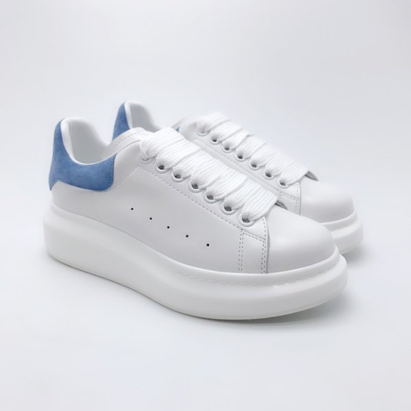 white light blue suede