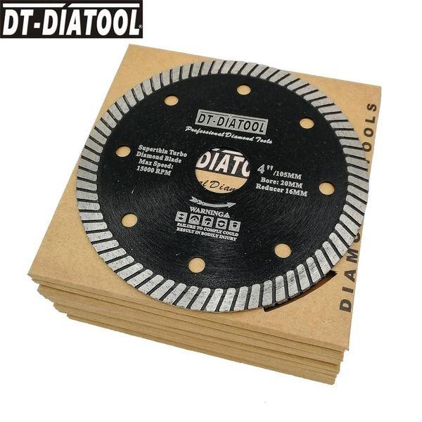 "top popular DT-DIATOOL 10units Superthin Turbo Diamond Blade Hot Pressed Cutting Disc Hard Material Ceramic Tile Granite Diameter 4"" 4.5"" 5"" 2020"