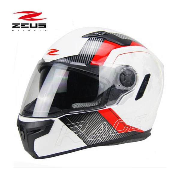 Certificação DOT ZEUS 813 Full face capacete da motocicleta com lentes duplas Motorcross capacete de moto Quatro Estações Tamanho M L XL XXL