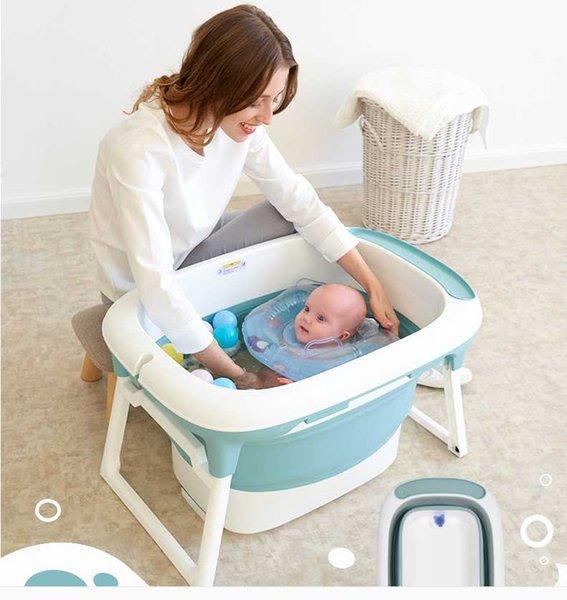 La baignoire pliante pour bébé Newborn Baby Products peut s'asseoir et s'allonger dans la baignoire