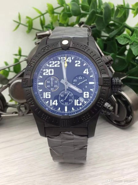 Hot Sale Sports watches men chronomate blackbird watches men black stainless steel watch quartz chronograph watch men dress wristwatches