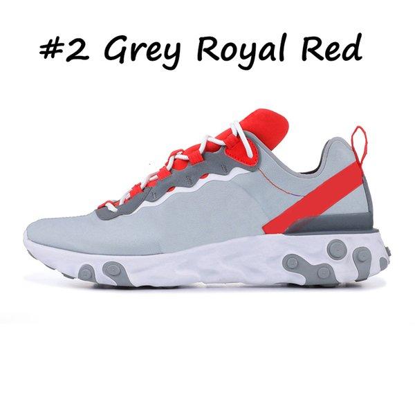 2GREY ROYAL RED