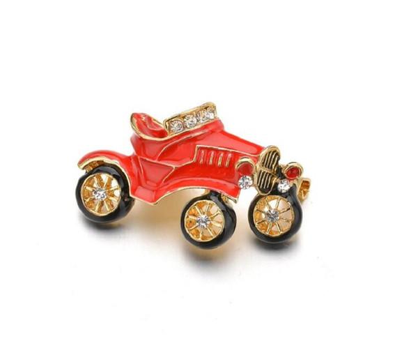 Hochwertige Nette Rote Antike Auto Broschen für Kinder Weihnachtsgeschenke legierung Metall Revers Abzeichen Tuch Zubehör b267