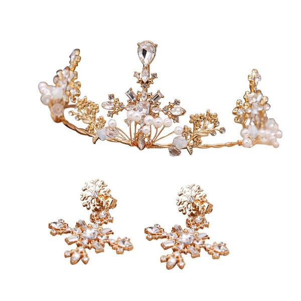 Vintage boda nupcial dama de honor de cristal Rhinestone diamante frente accesorios para el cabello borla diadema corona Tiara princesa Headpiece plata