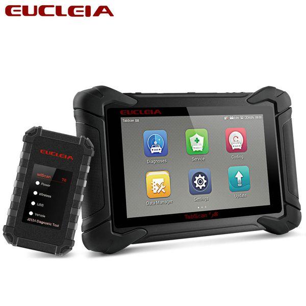EUCLEIA S8 OBD2 Car Scanner J2534 ECU Programming and Coding Bluetooth WiFi Full System OBD Diagnostic OBDII Scan Tool
