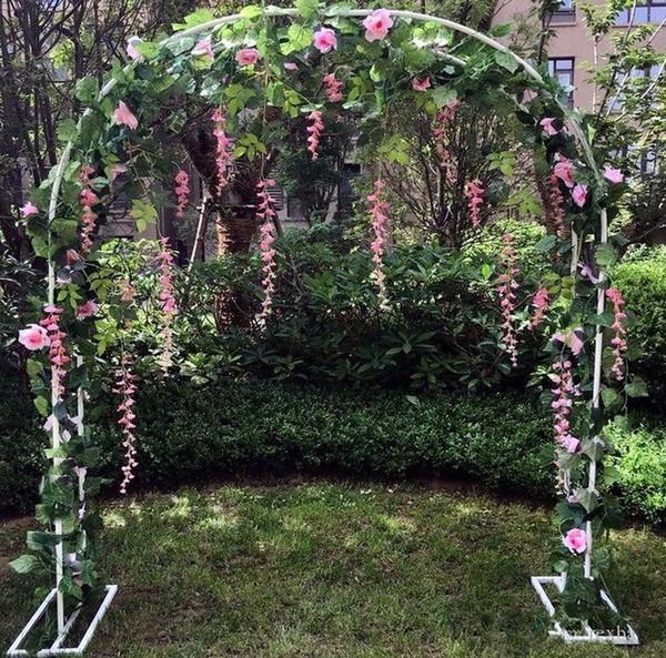 2.4 m Arco Nupcial Quadro Decoração de Fundo Flor de Cerejeira Arco Flor Stand Porta Festa de Casamento Decoração Adereços