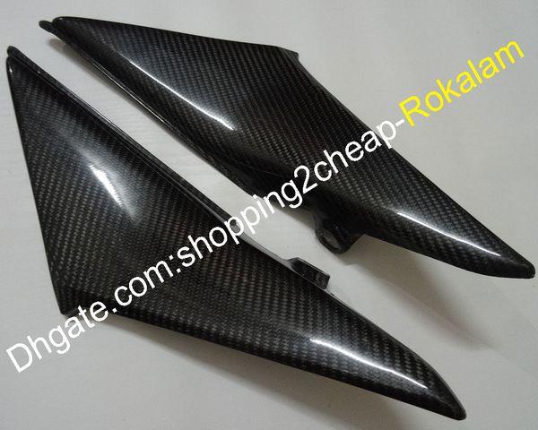 2 х Carbon Fiber Tank боковые крышки панели крышки панели обтекателя, пригодный для Honda CBR600RR F5 2003 2004 CBR600 RR 600RR 03 04