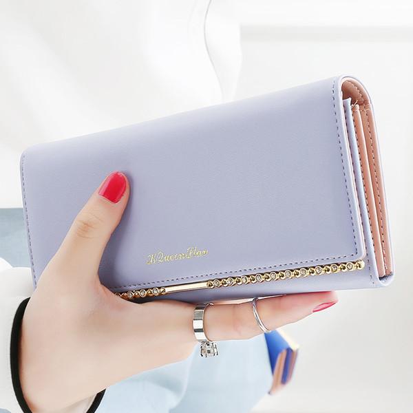 Neue Geldbörse weibliche lange koreanische Version Mode vertraglich süße große Kapazität Studentin langen Geldbeutel Clip