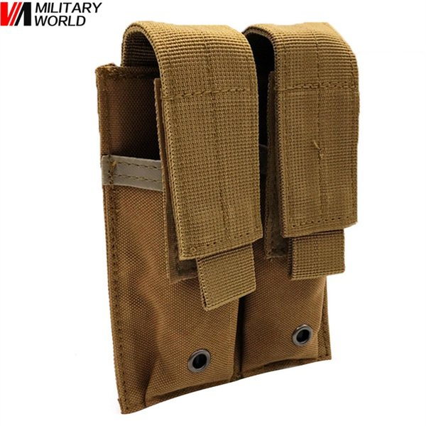 Military World Tactical Molle Magazine Pouch Double Clip Pocket Outdoor Waterproof Multi-Function Vest Accessory Hanging Bag #340876