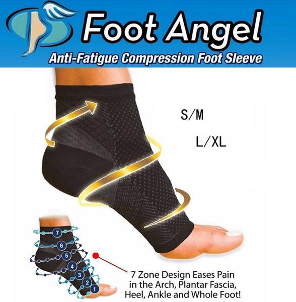 Foot Angel Anti-Fatigue Компрессионные Рукава Рукава Спортивные Носки Циркуляция Лодыжки Рельеф Открытый Бег Цикл спортивные Носки