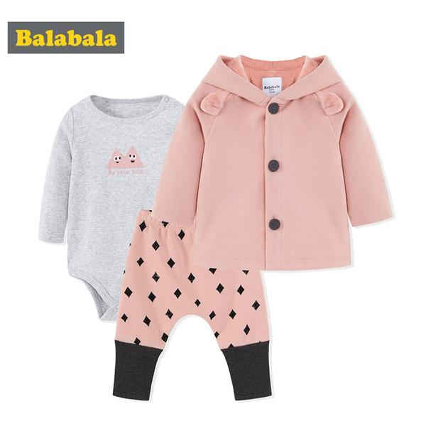 1628d42f7 Conjunto de ropa de bebé balabala para niñas recién nacidos de invierno de tres  piezas con