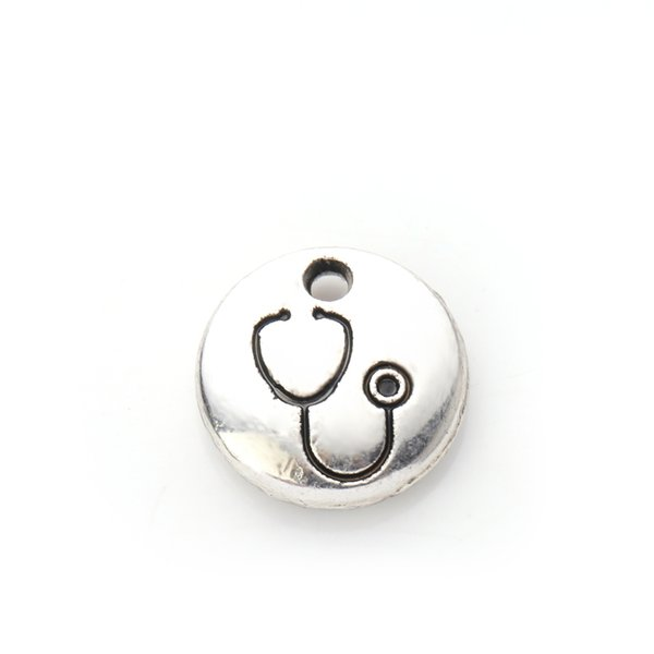 Myshape Wholesale,Silver Plated Medical Nurse Doctor Stethoscope Charms Pendant DIY Jewelry fit Bracelet Wholesale 20pcs