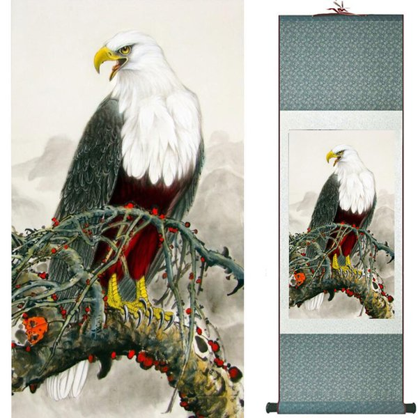 Eagle art painting Chinese Art Painting Home Office Decoration pintura china20190808010