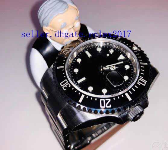 + caja Hombres Productos de lujo La mejor calidad Cerámica Negro Dial 126600 Glidelock Broche de buceo Mar de Basilea 43 mm Asia 2831 Reloj mecánico de zafiro