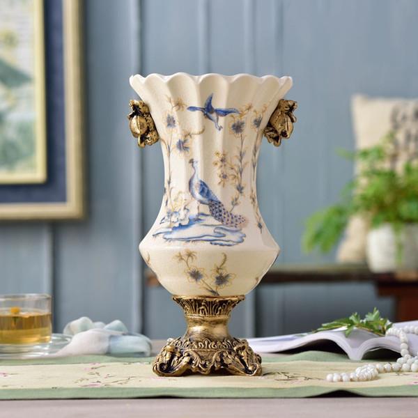 Christmas Ceramic Vase Ornaments European Style Home Furnishing Decorations Living Room Restaurants Antique Crafts Large Clear Vase Large Clear Vases