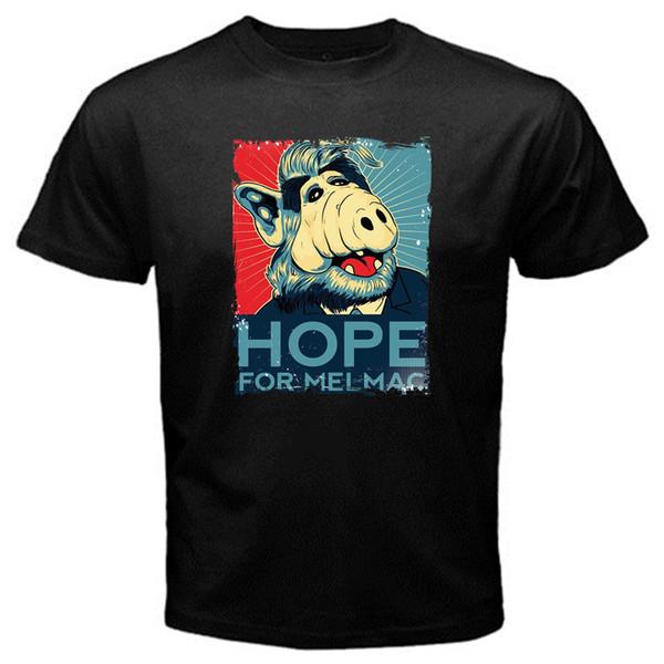 ALF melmac años ochenta estilo old school series película camiseta Negro Basic TeeFunny envío gratis Unisex camiseta Casual top
