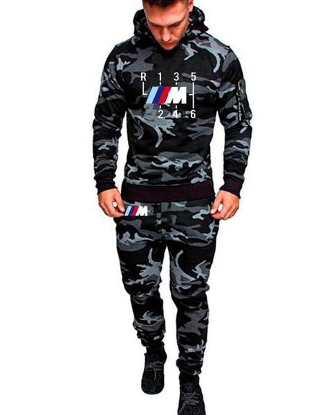 2018 Fashion Shifter Sunlight Fit Hoodies Hombres Conjunto deportivo Sudadera con capucha + pantalones Casual Mercedes F1 Hoodie Abrigo Tops