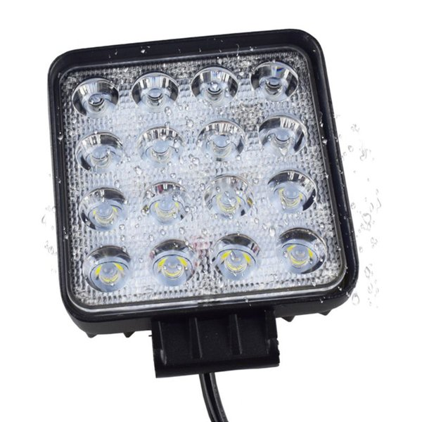 48W Vehicel Headlights 16LEDs Cool White Light Bar 4inch Vehicle LED Work Light Truck Car Accessories