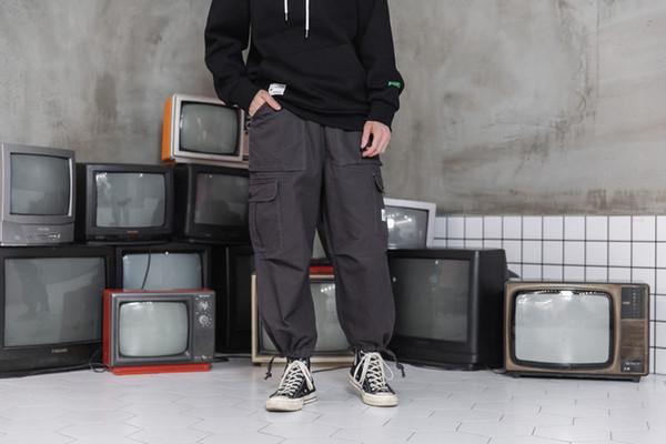Pantalon de survêtement pour les hommes occasionnels pantalons amples Printemps Automne Pantalons de mode adolescent