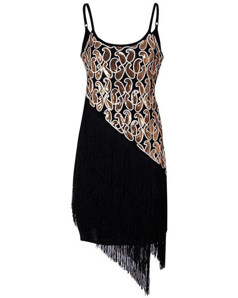 Night Club Style Womens Summer Designer Party Dresses Tassel Sequins Female Clothing Fashion V Neck Casual Apparel