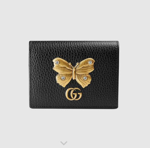 499361 Butterfly decorative leather card holde WALLET CHAIN WALLETS PURSE Shoulder Bags Crossbody Bag Belt Bags Mini Bags Clutches Exotics