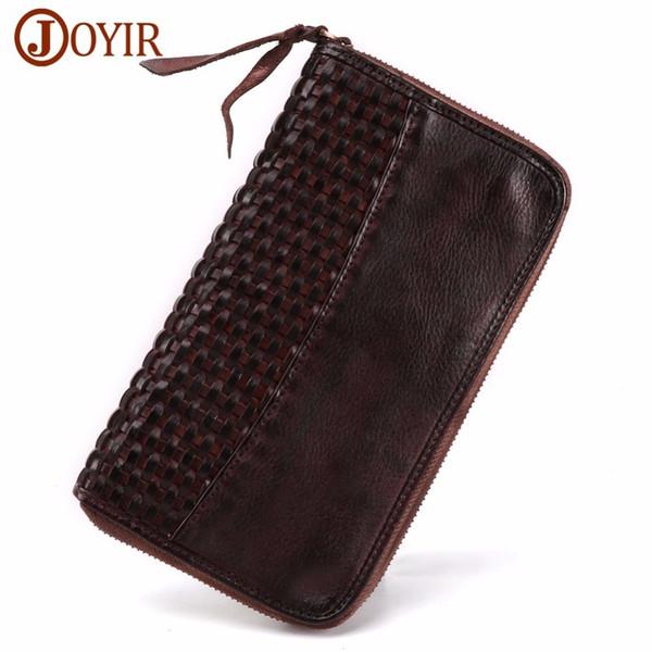 Brand Men wholesale Wallet Purse Genuine Leather Luxury Long Handy Bag Men's Clutch Zipper european For fashion Male Gift Hot Free shipping