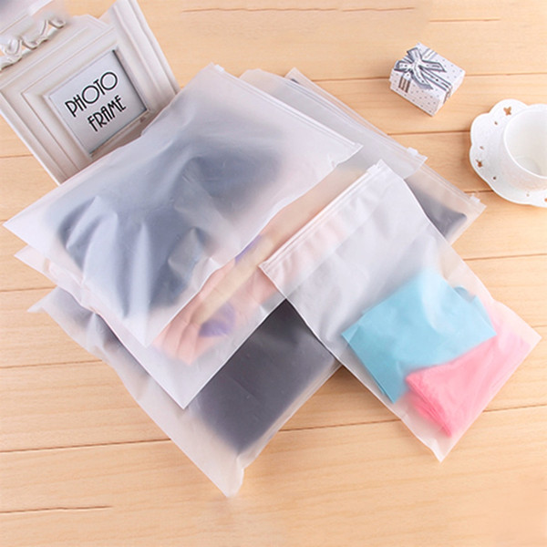 2Pcs Swimming Bags Matte Frosted Pouch Swimming Bag Sealed Waterproof Transparent Eco Ziplock Bag Clothing Bra Shoe Storage #690592