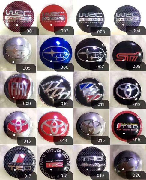 Self-Adhesive Universal Aluminum 56mm Domed Wheel Center Cap Emblem Sticker Badges Tire Decoration 4 PCS Per Set