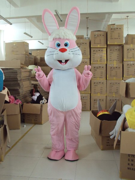 Professional Easter Bunny Mascot Costume Bugs Rabbit Hare Adult Fancy Dress Catoon Suit Costume mascot costume factory direct sale