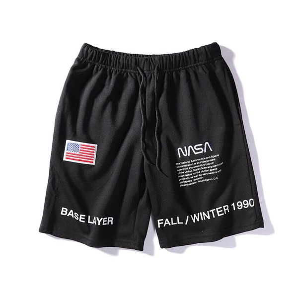 NASA Shorts Homens Moda Praia Verão Shorts Maré Marca de Lazer Calças Curtas Dos Homens Novos Shorts Casuais Streetwear