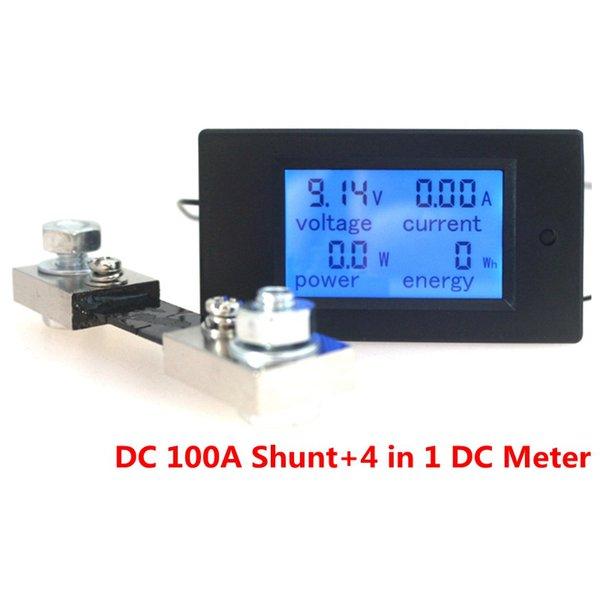Araçlar 6.5-100V 50A / 100A Dijital DC Voltmetre Ampermetre LCD 4 1 DC Gerilim Akım Güç Enerji Ölçer Dedektör Amperimetro Şant içinde
