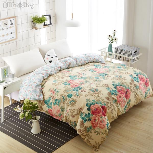 Hot Luxury Flowers Bettwäsche Set 1 Stück Bettbezug mit Reißverschluss Bettbezug / Tröster Twin Full Queen King Size