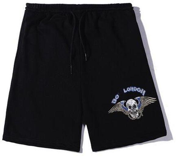 Designer Herren Damenbekleidung Marke Shorts Flut Marke Paar lila Schädel Bronzing Baumwolle Terry Five Pants schwarz Kleidung BO