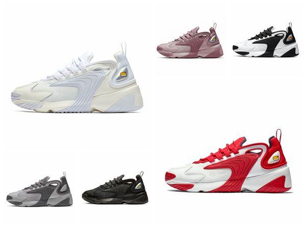 Новейшие Zoom 2K Мужские кроссовки для образа жизни Белый Черный Синий Стиль ZM 2000 90-х годов Тренер-дизайнер Дизайнерские кроссовки M2K Удобные каузальные туфли