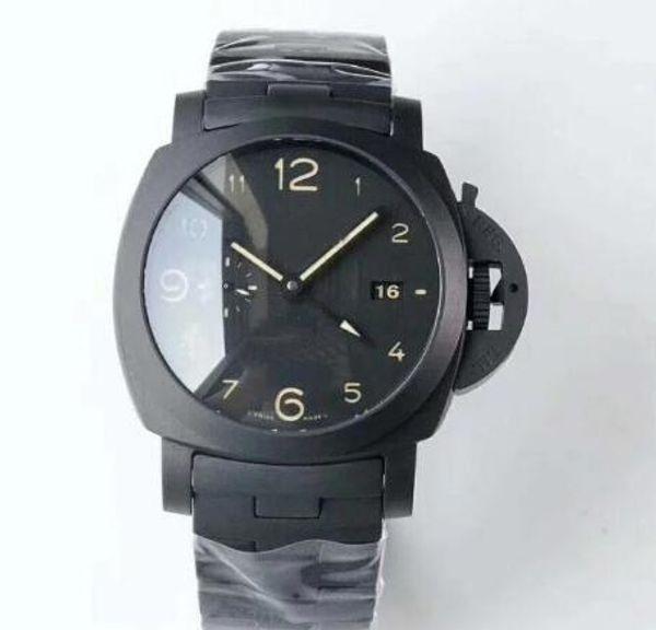 assistir designer de relógios movimento relógios 438 44mmV2 cerâmica atualizar todo o movimento negro super P9001 luminosa ma automática