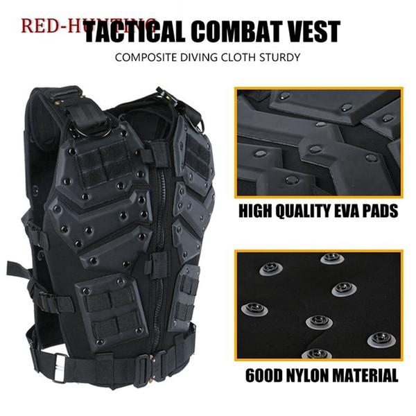Molle Tactical Vest Combat TF3 Body Weste Protector Schwarzes Training